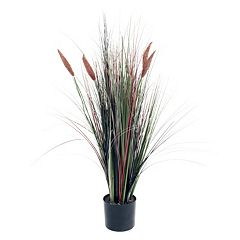 Navarro 48' Tall Cattail Artificial Grass Plant