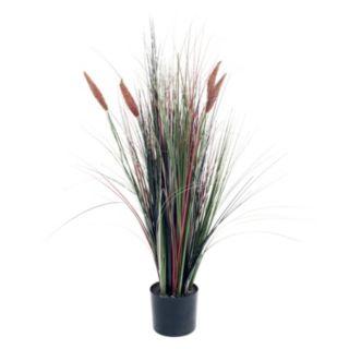 "Navarro 48"" Tall Cattail Artificial Grass Plant"