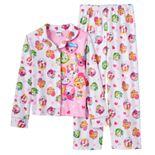 Girls 6-12 Shopkins Button-Front Pajama Set