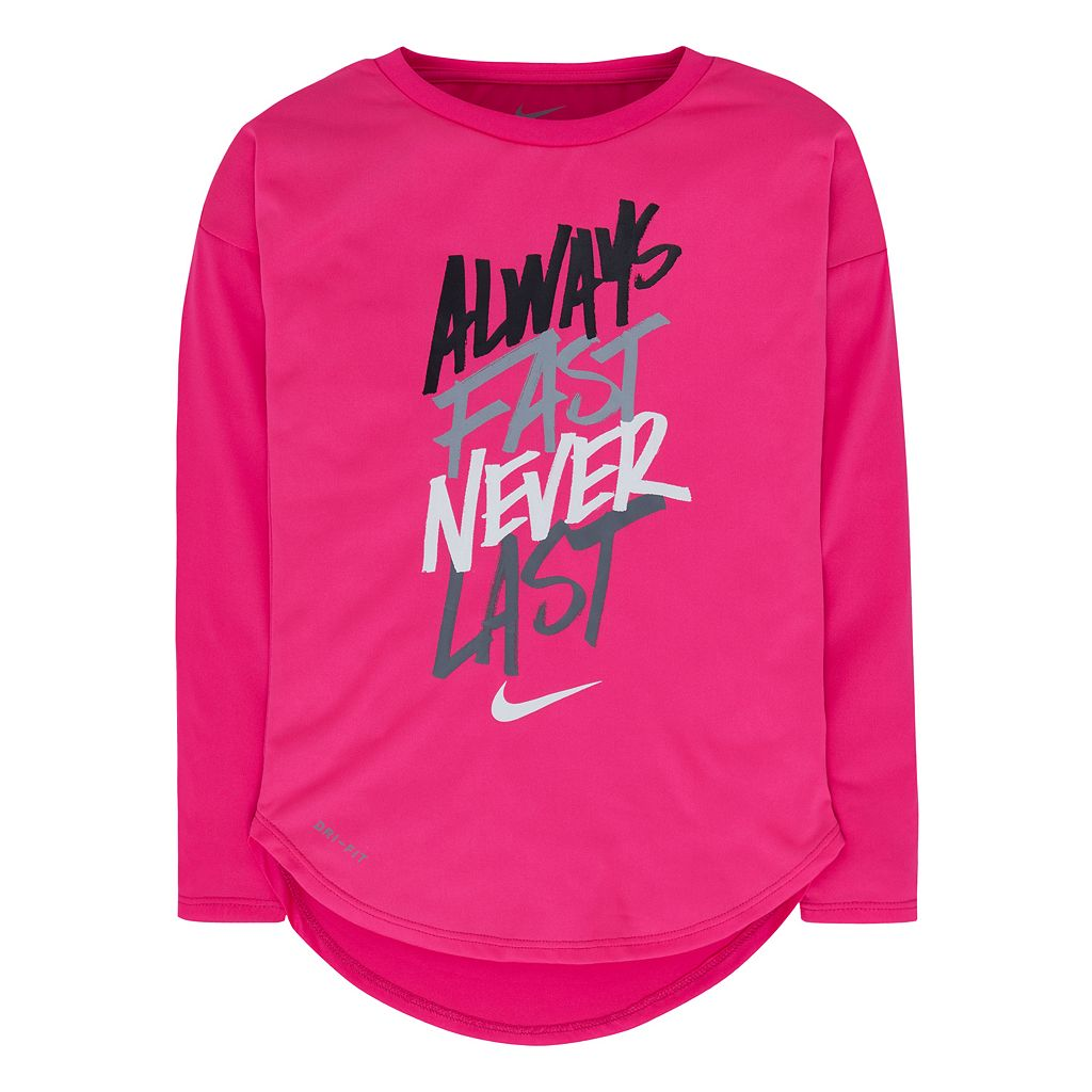 Girls 4-6x Nike Dri-FIT Curved High-Low Tee