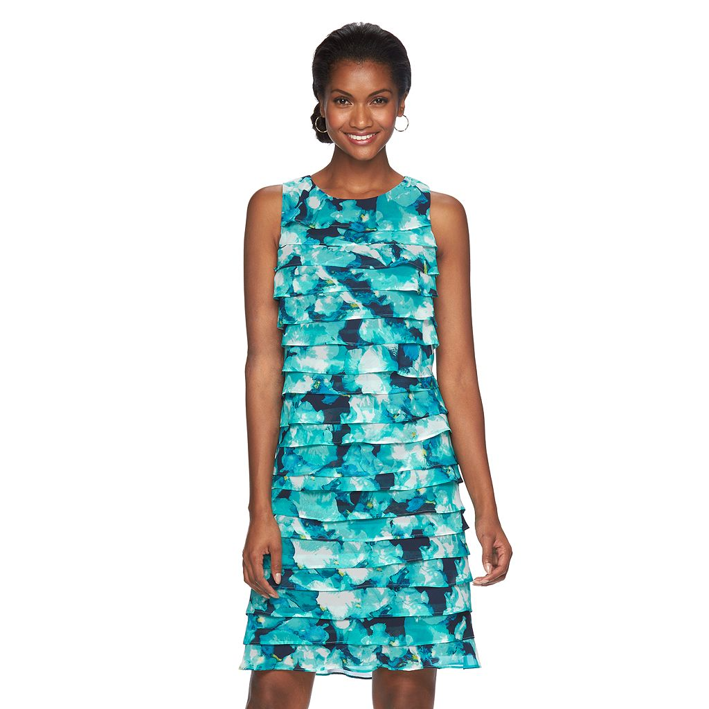 Women's Jessica Howard Shutter-Stripe Sheath Dress