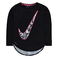 Girls 4-6x Nike Dri-FIT Printed Curved High-Low Tee