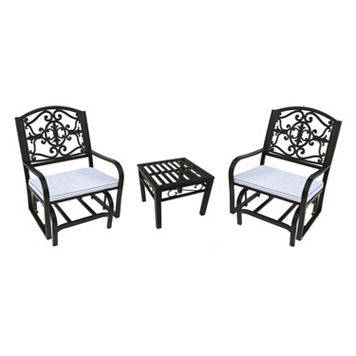 Lakeville Outdoor Glider Chair 3-piece Set