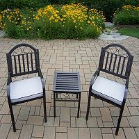 Rochester Outdoor Cushioned Arm Chair 3 pc Set