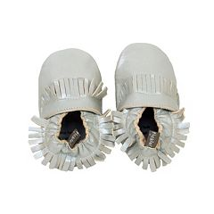 Baby Tommy Tickle Metallic Moccasin Crib Shoes