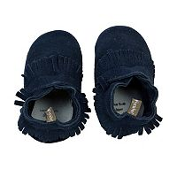 Baby Boy Tommy Tickle Suede Moccasin Crib Shoes