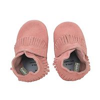 Baby Girl Tommy Tickle Suede Moccasin Crib Shoes