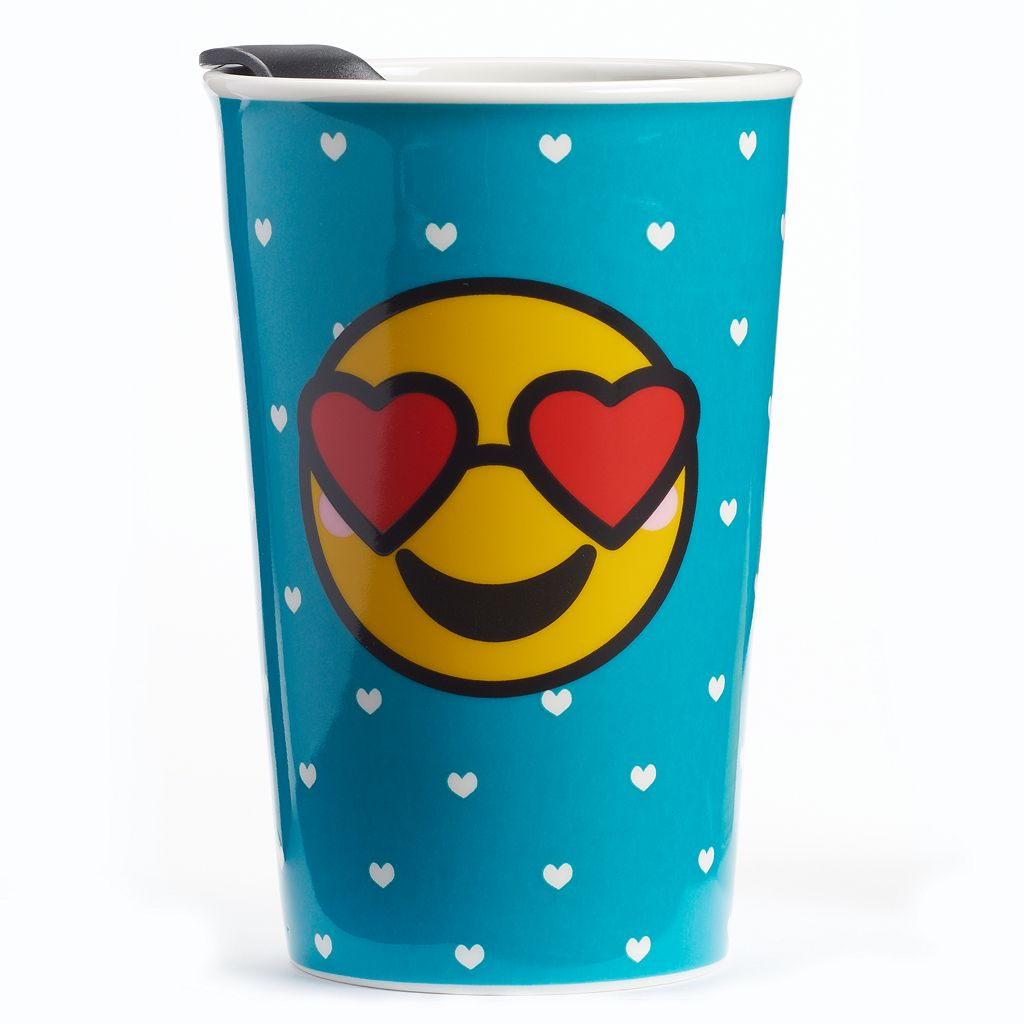 Heart Eyes Emoji Tumbler with Lid