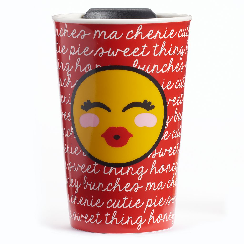 Kissy Face Emoji Tumbler with Lid