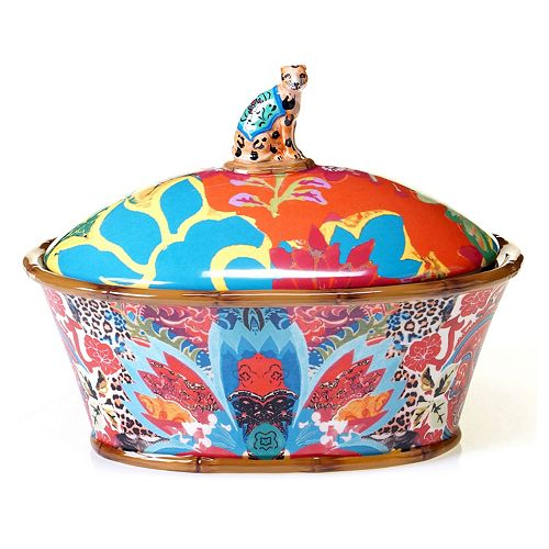 Tracy Porter Magpie 3D Leopard Covered Serving Dish