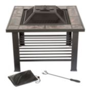 "Navarro 30"" Square Table Fire Pit"