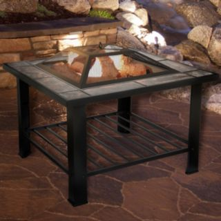 "Navarro 30"" Square Table Fire Pit"