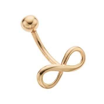 10k Gold Infinity Belly Ring
