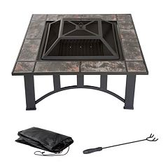 Navarro 33' Square Table Fire Pit