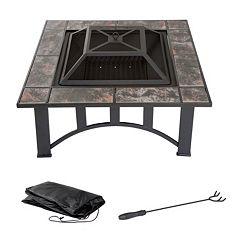 Navarro 33' Square Table Fire Pit