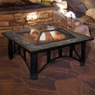 "Navarro 33"" Square Table Fire Pit"
