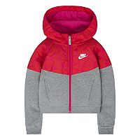 Girls 4-6x Nike Mixed-Media Fleece Windrunner Hoodie