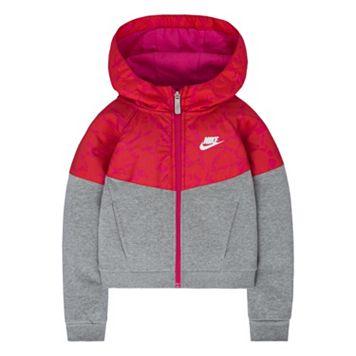 Girls 4-6x Nike Mixed-Media Fleece Windrunner Hoodie