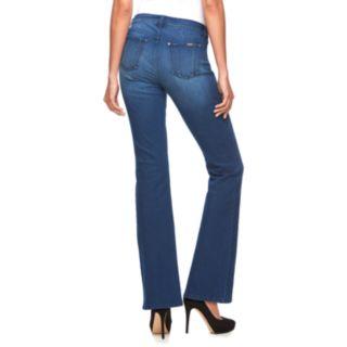 Women's Jennifer Lopez Midrise Curvy Fit Bootcut Jeans