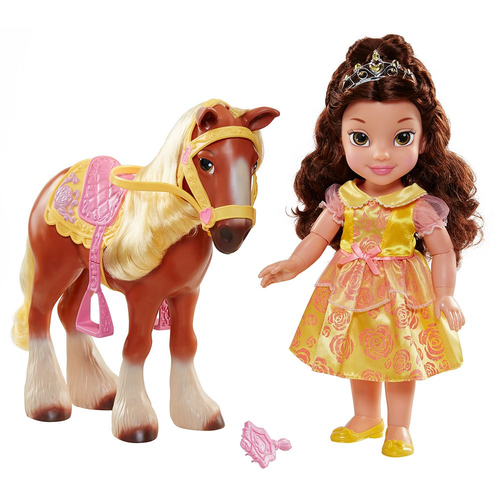 Disney's Beauty and the Beast Belle and Philippe Horse Set