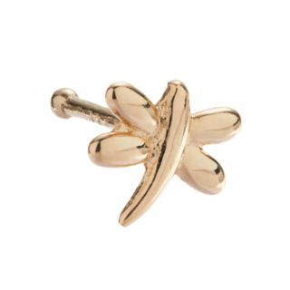 10k Gold 6mm Dragonfly Nose Stud