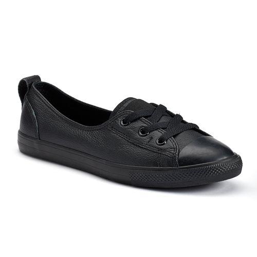Women s Converse Chuck Taylor All Star Leather Ballet Flats 02913448c