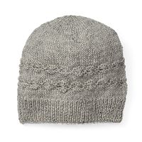 Women's SIJJL Wool Cable-Knit Floral Beanie