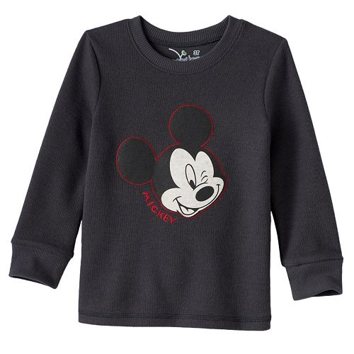 92a56061e Disney's Mickey Mouse Toddler Boy Faded Graphic Flatback Thermal ...