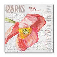 Trademark Fine Art Paris Botanique Red Poppy Canvas Wall Art