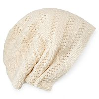 Women's SIJJL Wool Oversized Knit Beanie
