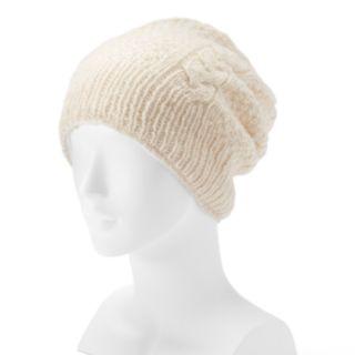 Women's SIJJL Wool Cable-Knit Beanie