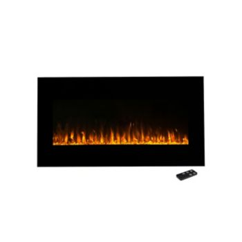 "Northwest 36"" LED Fire & Ice Electric Fireplace & Remote"