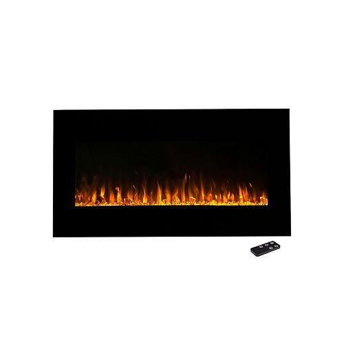 """Northwest 36"""" LED Fire & Ice Electric Fireplace & Remote"""