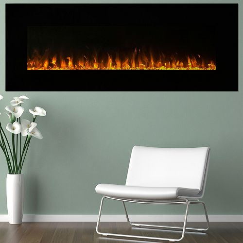 "Northwest 54"" LED Fire & Ice Electric Fireplace & Remote"