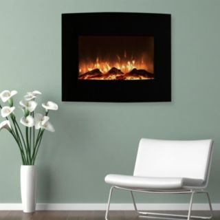 """Northwest 25"""" Mini Curved Wall Mount Fireplace & Floor Stand"""