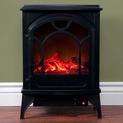 Northwest Free Standing Classic Electric Log Fireplace by