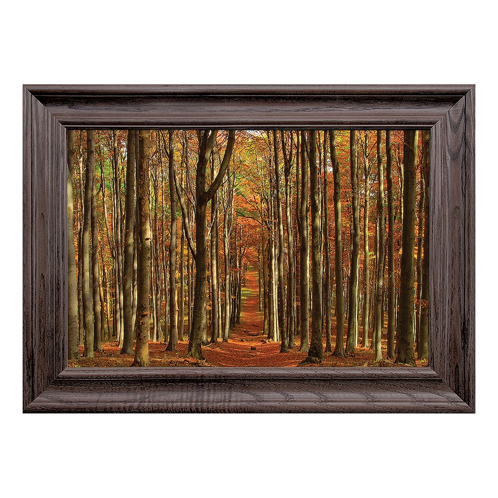 Reflective Art Temple of the Woods Framed Wall Art