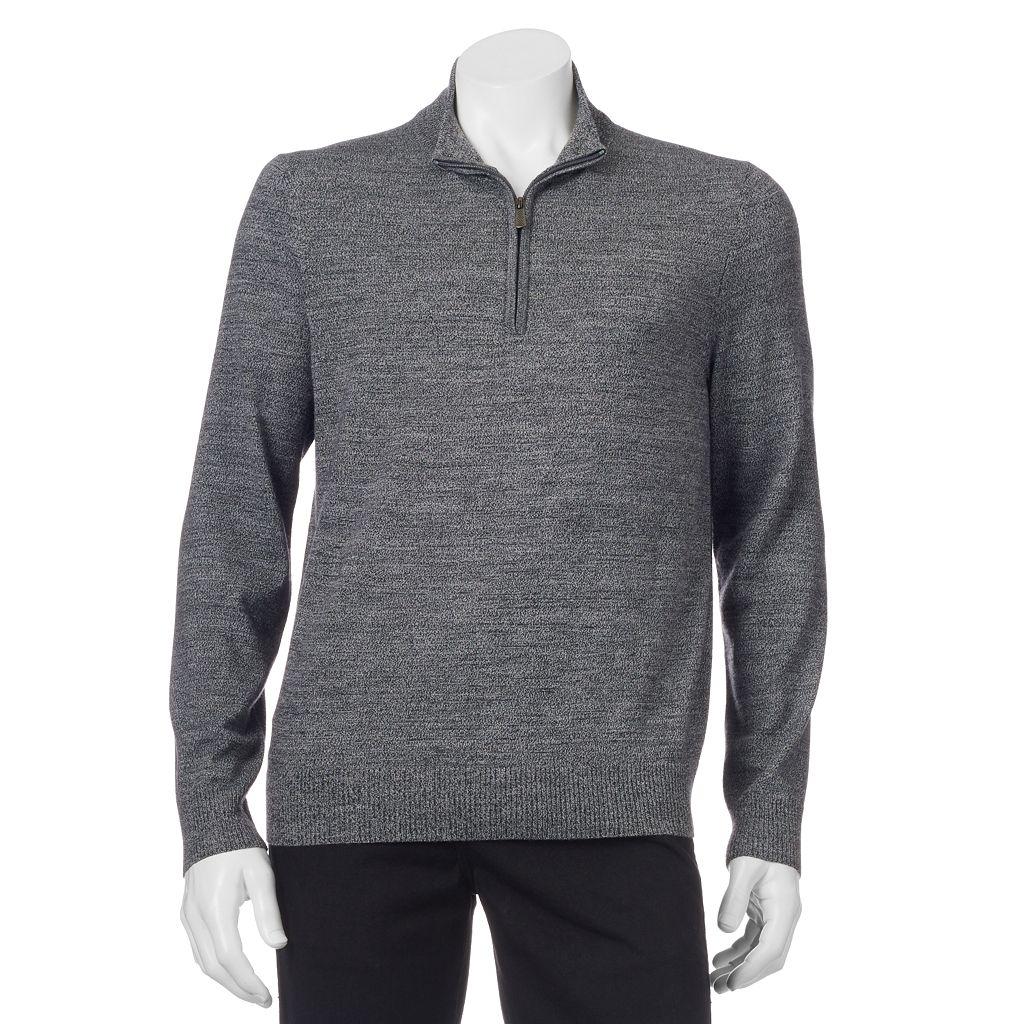 Men's Apt. 9® Modern-Fit Merino Wool-Blend Quarter-Zip Sweater
