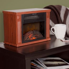 "Northwest 13"" Portable Mini Electric Fireplace Heater"