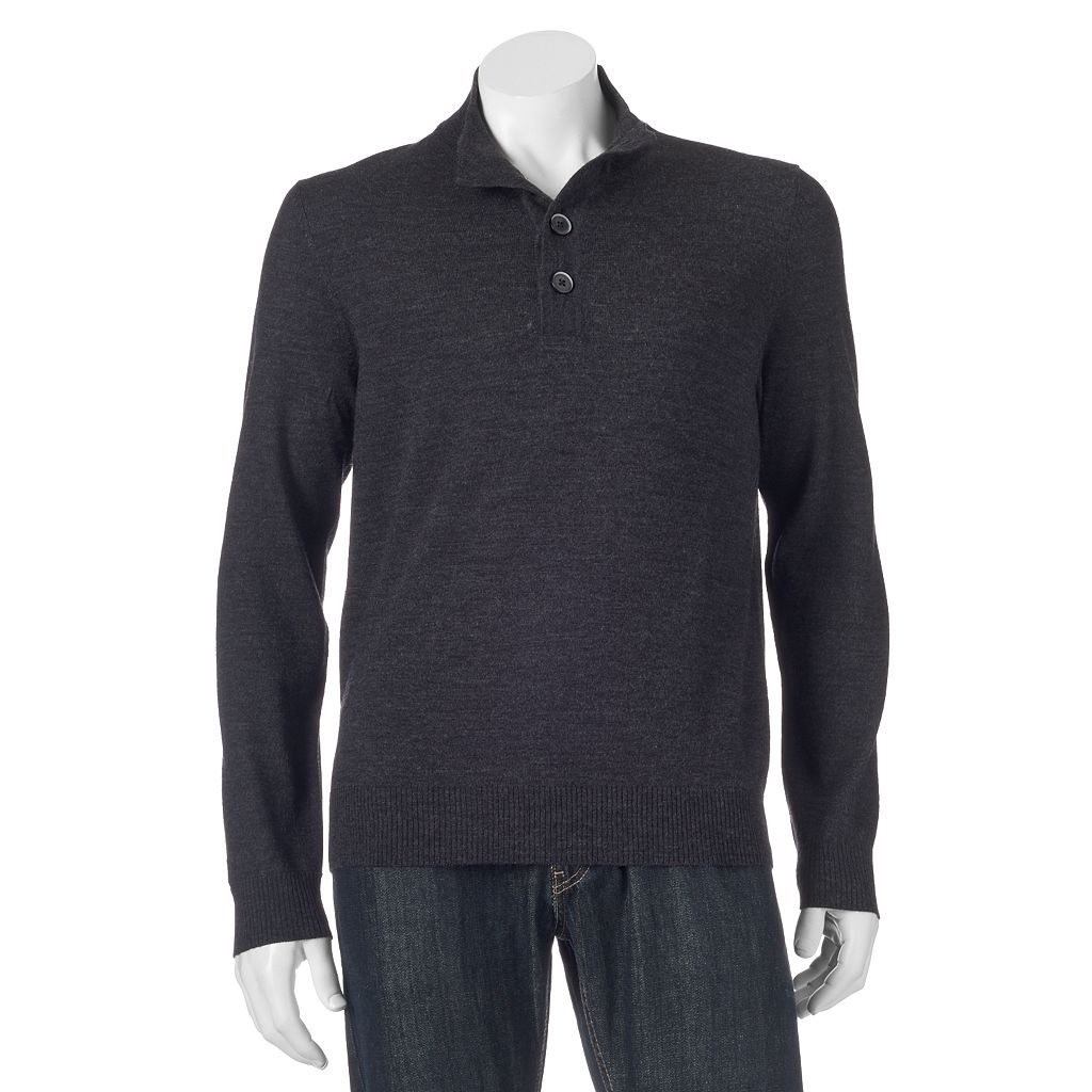 Men's Apt. 9® Modern-Fit Solid Merino Mockneck Sweater