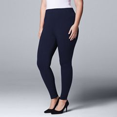 Plus Size Simply Vera Vera Wang Solid Leggings