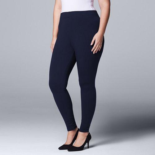 b08f53de9e5 Plus Size Simply Vera Vera Wang Solid Leggings