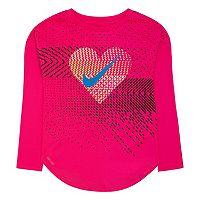 Toddler Girl Nike Dri-FIT Geo Mashup Modern Long Sleeve Tee