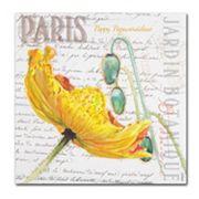 Trademark Fine Art Paris Botanique Yellow Poppy Canvas Wall Art