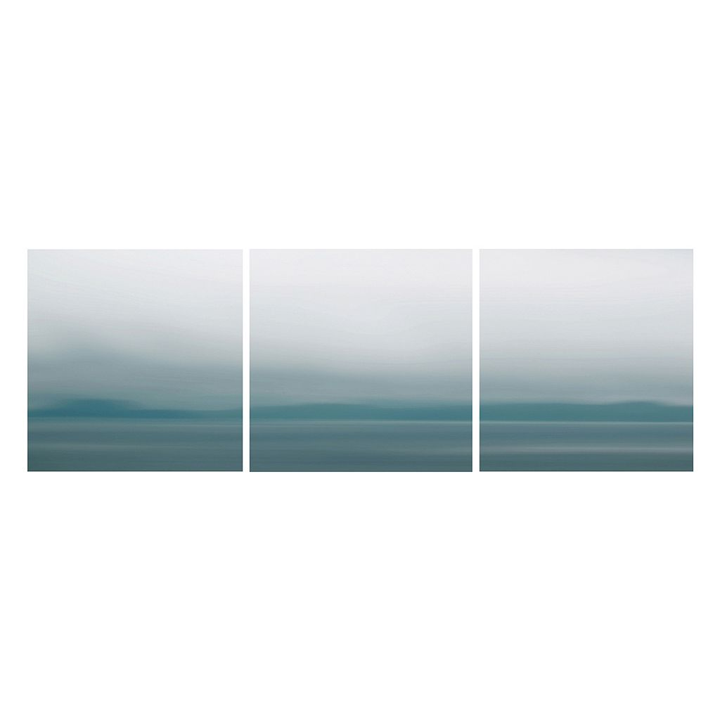 Nexxt Shutter Canvas Prints Blue Blurs Wall Art Set