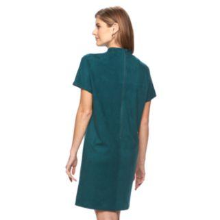 Women's Apt. 9® Faux-Suede Shift Dress