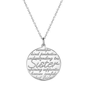 Sterling silver sisters bar necklace sale aloadofball Image collections