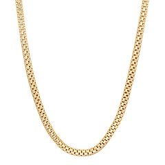 14k Gold Over Silver Popcorn Chain Necklace - 20 in