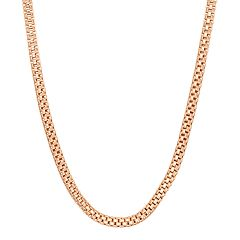 14k Gold Over Silver Popcorn Chain Necklace - 16 in