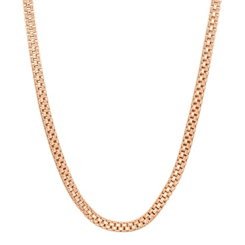 14k Gold Over Silver Popcorn Chain Necklace - 16 in.